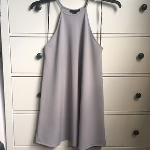 Forever 21 Size S High Neckline Gray Dress